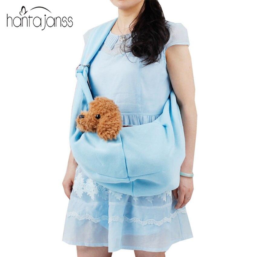 HANTAJANSS Hands-Free Reversibile Piccolo Cane Gatto Carrier Sling Bag Corsa Esterna A doppia faccia Tasca a Marsupio Sacchetti di Spalla