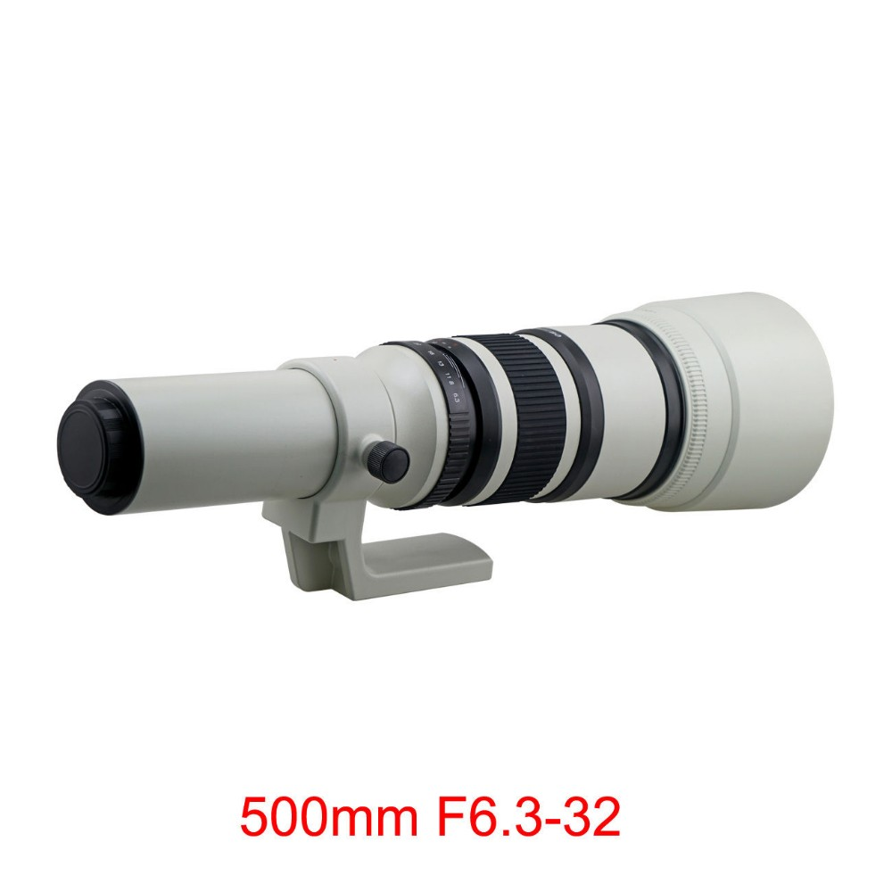 500mm f/6.3 Telephoto Fixed Prime Lens + Free T2 Mount Adapter for Canon Nikon Sony Olympus Pentax Camera DSLR 3
