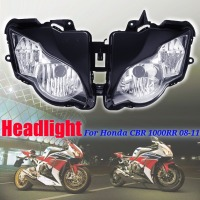 1 Pair Motorcycle Left Right Front Headlight Head Lamp Lens Assembly For Honda CBR 1000RR 2008