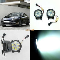 July King 18W 6LEDs H11 LED Fog Lamp Assembly Case for Renault Laguna 2005 2013 etc, 6500K 1260LM Daytime Running Lights