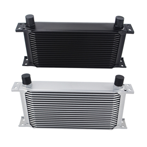 Image 2 - UNIVERSAL 19 ROWS OIL COOLER KIT +OIL FILTER SANDWICH + STAINLESS STEEL BRAIDED AN10 HOSE WITH PQY STICKER+BOX