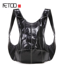 AETOO Original anti-theft turtle shoulder bag multi-purpose travel backpack men and women personalized casual bag backpack aetoo leather leather shoulder bag men and women backpack original hand rubbing backpack casual retro backpack tannage
