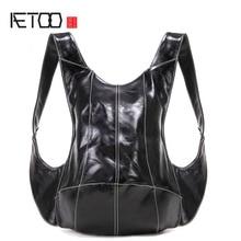 AETOO Original anti-theft turtle shoulder bag multi-purpose travel backpack men and women personalized casual