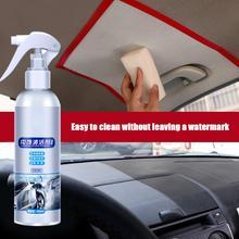 Środek czyszczący do wnętrza samochodu środek czyszczący do sufitu skóra tkanina flanelowa bezwodny środek czyszczący Auto urządzenia do oczyszczania dachu Dash