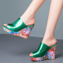 купить Punk Slippers Women Oxfords Cow Leather Wedges Platform Gladiator Sandals Open Toe Super High Heel Party Pumps Casual Shoes по цене 3701.72 рублей