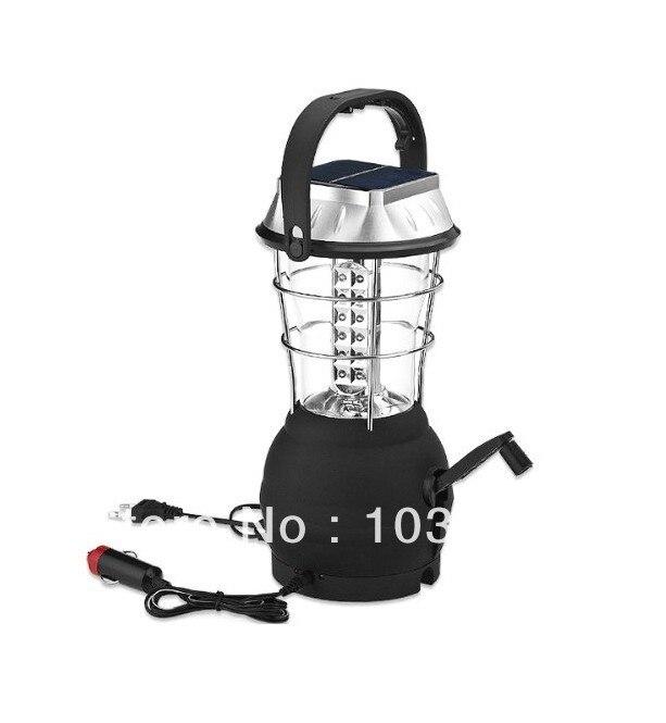 ФОТО New Super Bright 3 Modes Hand Crank Solar 36 LED Camp Camping Lantern solar Lamp Light Free shipping