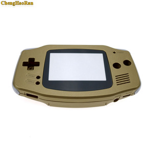 Image 4 - ChengHaoRan 1set Gold Golden shell case housing for gameboy advance GBA with pika chu poke mon protector screen lens