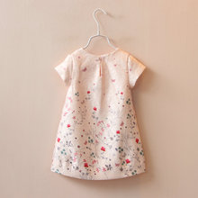 wholesale (5pcs/lot) 2016 spring butterfly flower pink dress   princess dress for child girl