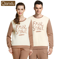 Brand Couples Pajamas Set Winter Warm Cotton Men Women Sleepwear Lounge Pullover Tops & Bottoms Thermal Underwear for Women Men