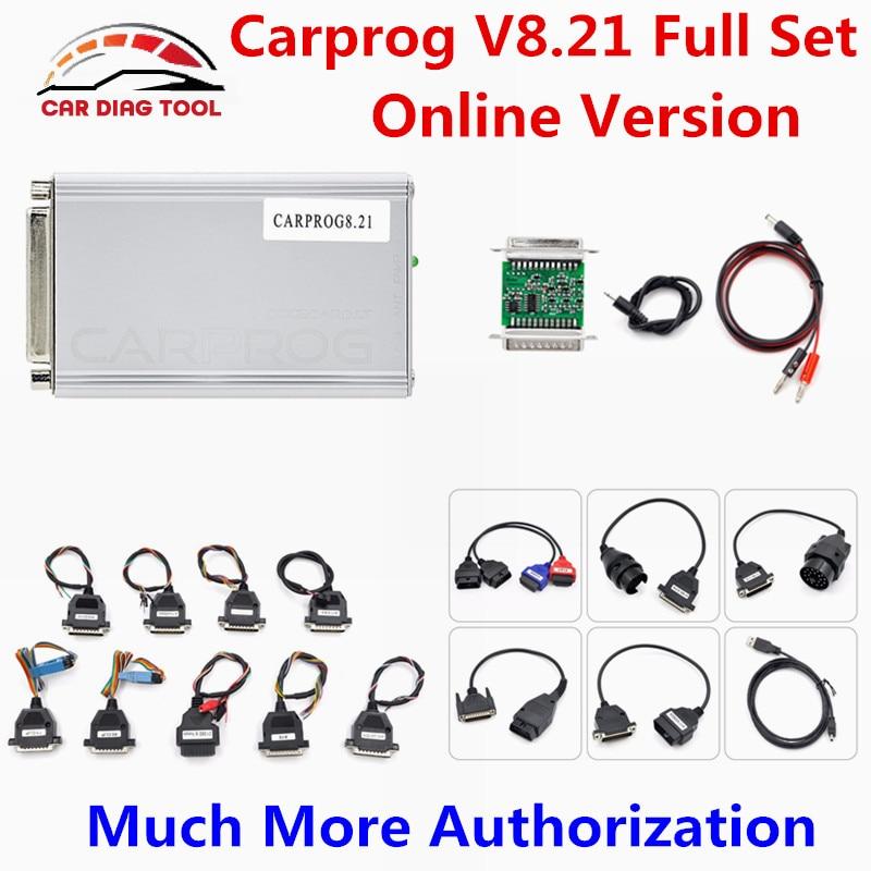 Цена за Новинка CARPROG Полный V8.21 прошивки онлайн версия чип ЭКЮ инструмент настройки автомобилей PROG Авто Ремонт Инструмент Отправить Бесплатная V9.31 Программное обеспечение