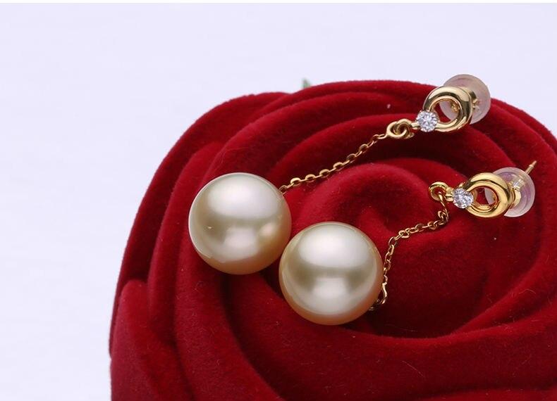 gold pearl earrings 77