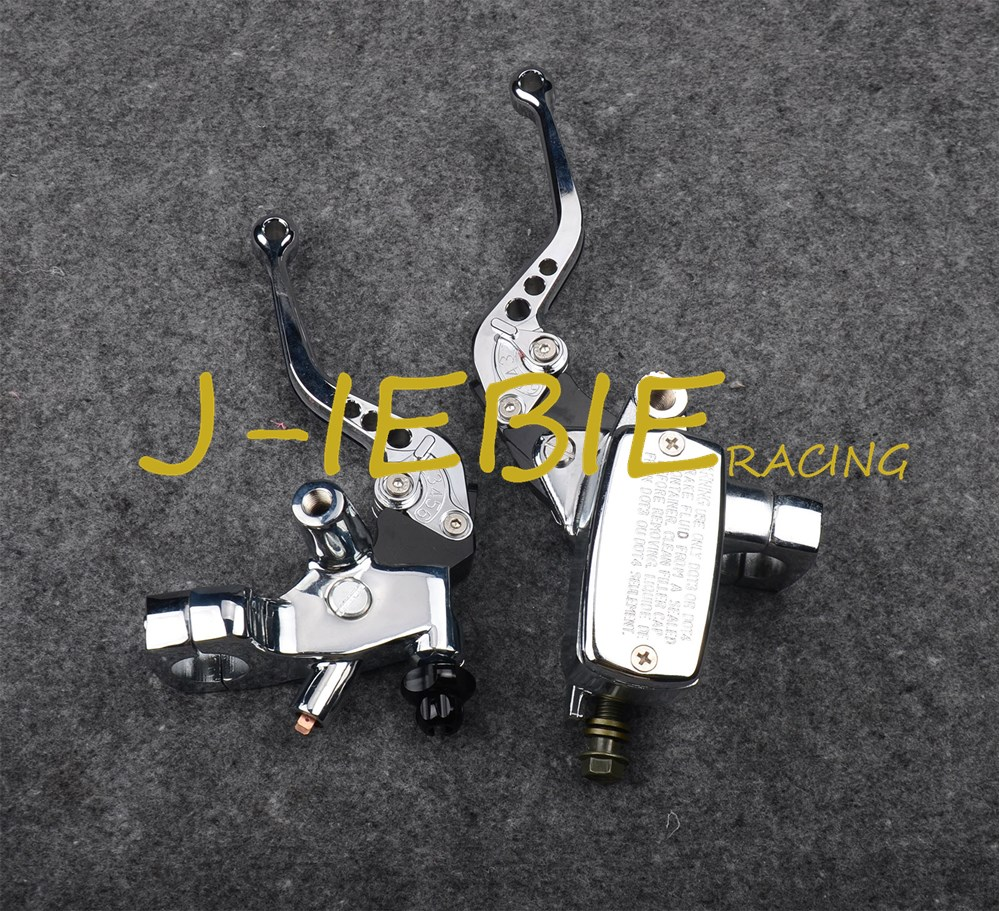 Chrome Brake Master Cylinder Clutch Levers for Kawasaki Vulcan EN 500 VN 800 900 Classic Vulcan 500 800 900 Eliminator 600 universal 22mm motorcycle handlebar clock for harley sportster dyna softail chopper kawasaki vulcan vn 500 750 800 900 1500 1600