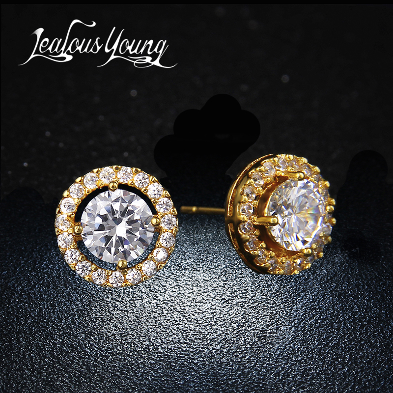 Fashion Elegant & Charming Stud Earrings For Women High Quality Cubic Zircon Earings For Girls Piercing Jewelry Brincos AE177