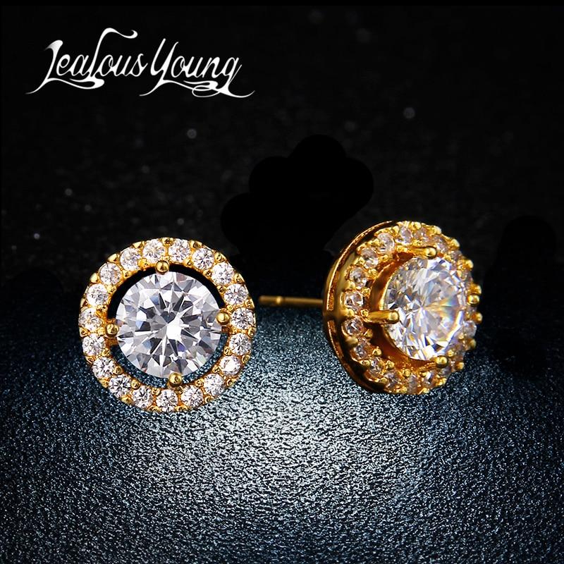 Fashion Elegant & Charmig Stud Örhängen För Kvinnor Högkvalitativ Cubic Zircon Earings For Girls Piercing Smycken Brincos AE177