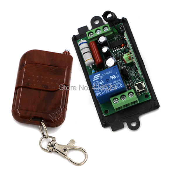 wireless relay 220v remote control switch,10A Relay 1CH Wireless RF Remote Control Switch 1 Transmitter+1 Receiver SKU: 5043 tad yk40a 2a 1 220v wireless rf remote control relay switch transceiver receiver