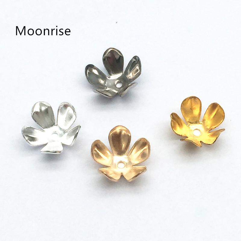 100 Pcs Filigree Flower Cup Shape Silver Loose Bead Caps for Jewelry Making C HK