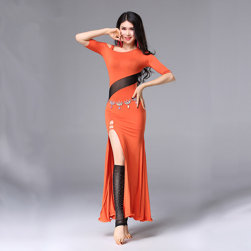 Belly Indian eastern hair swinging baladi dance costumes Bellydance oriental dancing costume clothes bra belt skirt dress 3066