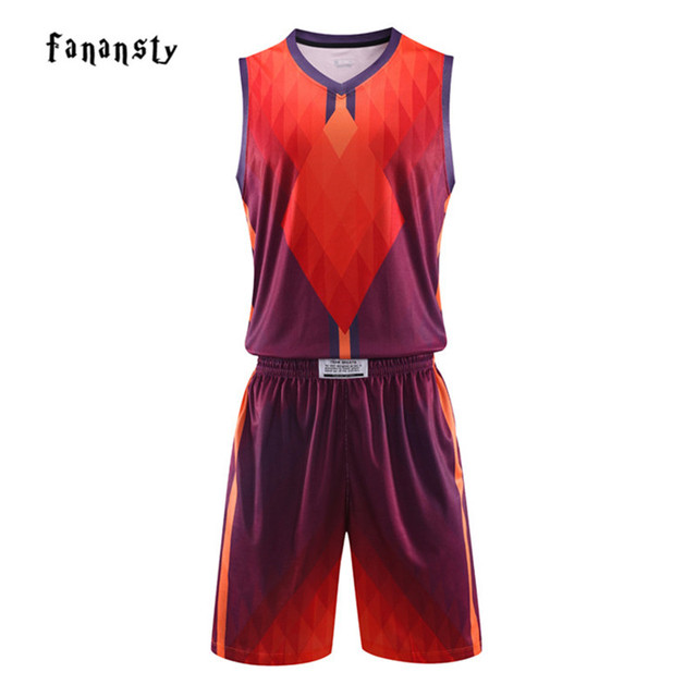 f21613072 2018 New Basketball Set Men Custom Made High Quality DIY Uniforms Quick Dry  Breathable Basketball Jersey Training Youth Kit Suit