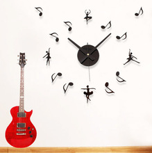 Music big measurement ballet dancing in the notes combination clock table wall clock wall clock diy