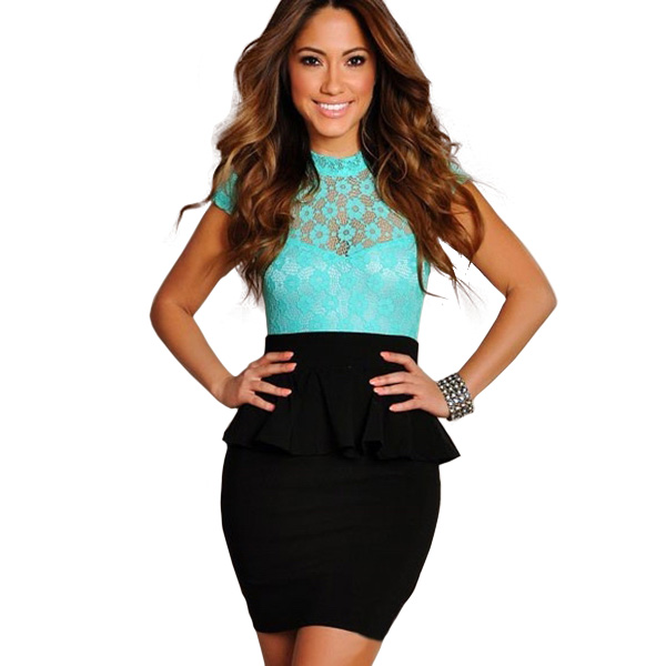 Women's Clothing Dresses LA18097 Fast Delivery Sexy Fashion Peplum Dress for Women