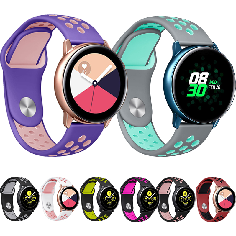 Sport Straps For Samsung Galaxy Watch Active 2 1 Bands Screen Protector Bracelet For Samsung Galaxy Watch Active Case Strap Band