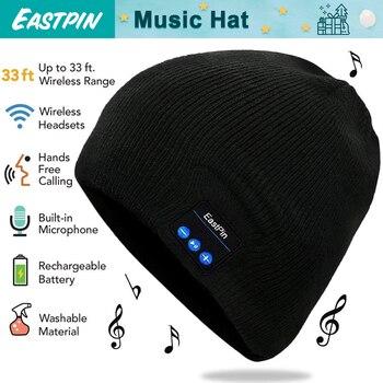 Bluetooth Beanie invierno sombrero auriculares inalámbricos sombrero música  y ajuste para deportes al aire libre de esquí corriendo patinaje caminando a4651d2a59e