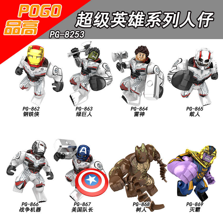 Legoing Marvel Avengers Ironman Thor Hulk Thanos Antman Super Heroes Figures Building Blocks Toys For Children Marvel Superhero