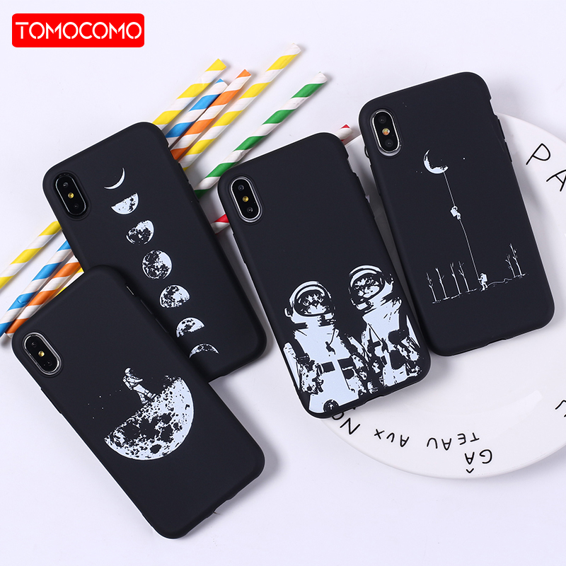 Smart Oloey For Iphone 5s 6s 7plus 7 8 8plus X Xs Max Samsung Galaxy Space Love Moon Astronaut Rocket Cat Soft Silicone Printed Case Half-wrapped Case Phone Bags & Cases
