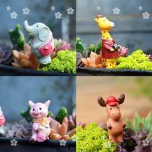 Миниатюрные маленькие забавные животные с сумкой и камерой, сказочные Садовые принадлежности украшения для террариума фигурки животных