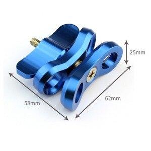 Image 5 - All Mentale Duiken Lichten Bal Vlinder Clip Arm Klem Mountting Aluminium Voor 3 +/4/5 Xiaoyi Gitup Voor gopro 5 6 Duiken Bal Fix