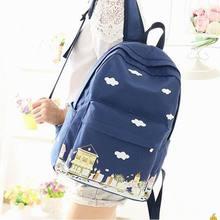 Холст рюкзак женщины Bagpack подростков рюкзаки для подростков девочек-подростков Молодежный женский рюкзак для девочек Mochila Feminina