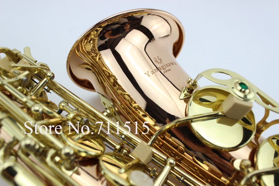 YANAGISAWA A-992 Brand Musical Instruments Alto Saxophone Eb Tone Phosphor Bronze Gold Plated E Flat Sax With Case Mouthpiece portable eyebrow knife with two blades