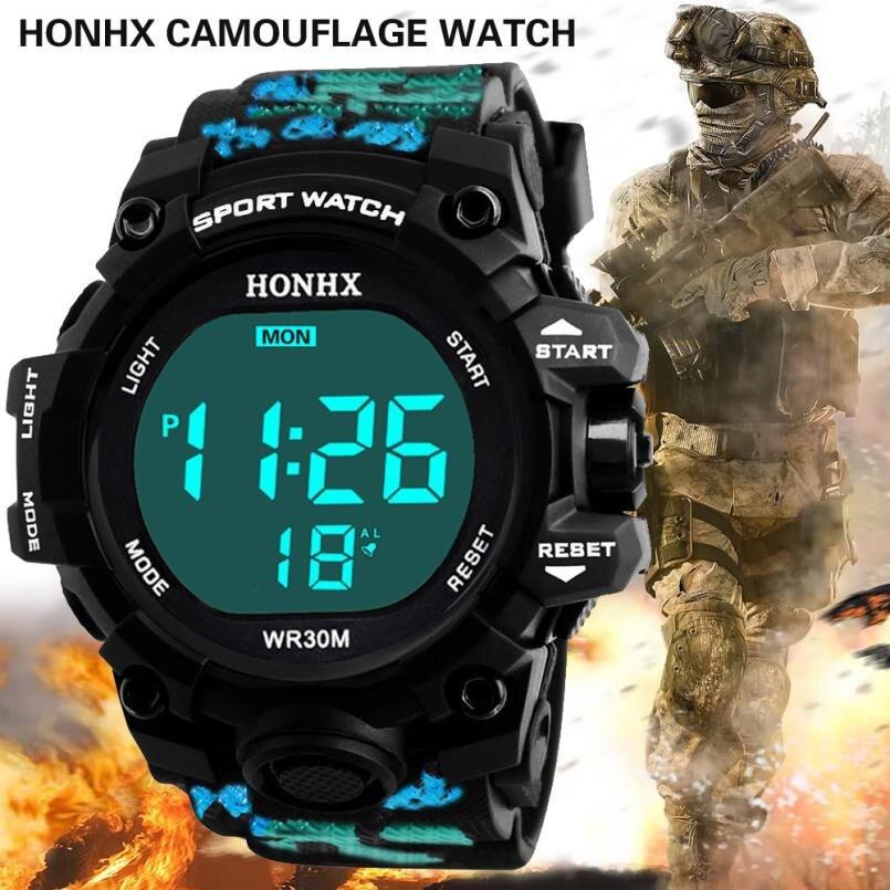 Wrist-Watch Digital Sport Led Waterproof Military-Army Reloj Men Analog Masculino Hombre