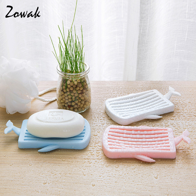 1pc Plastic Bar Soap Holder For Bathroom Shower Plastic Soap Dish Tray Dry  Kitchen Whale Shower