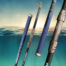 Sale New Carbon Telescopic Fishing Rod Spinning Sea Rod Hard Fishing Tackle 3.0M 084#