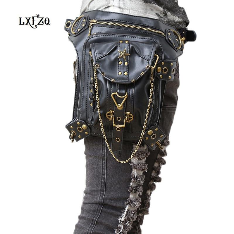 carteras mujer táska Steampunk comb Motor láb Outlaw Pack combcsomag védett erszényes váll hátizsák erszényes bőr női táska