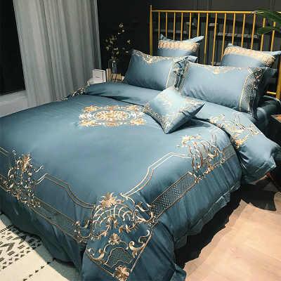 Gongsatin длинное хлопковое стеганное постельное белье набор из четырех комплектов хлопковое постельное белье из чистого хлопка Европейская свадьба