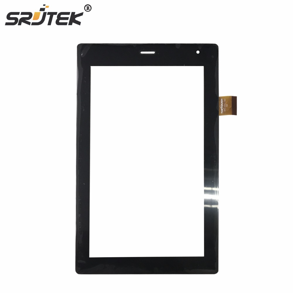 Srjtek touch screen panel digitizer for megafon Login 3 MT4A Login3 MFLogin3T tablet TPC1463 VER5.0 FL FL-070-290 TPT-070-360 ватные палочки я самая 300 шт