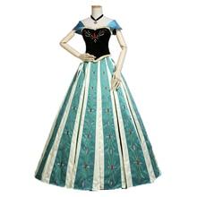 Princess Anna Dress Cosplay Costume Halloween Cosplay Princess Elsa Anna Dress Adult Party Dress Costume браслет anna slavutina anna slavutina mp002xw0qepx