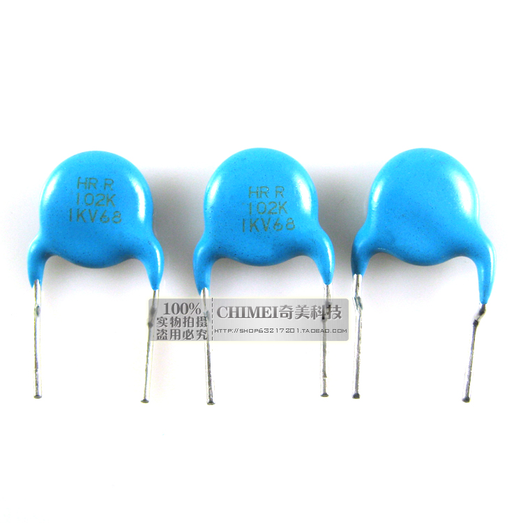 Ceramic Capacitors 1KV 102K Capacitors Commonly Used In High-stability Oscillation Circuit