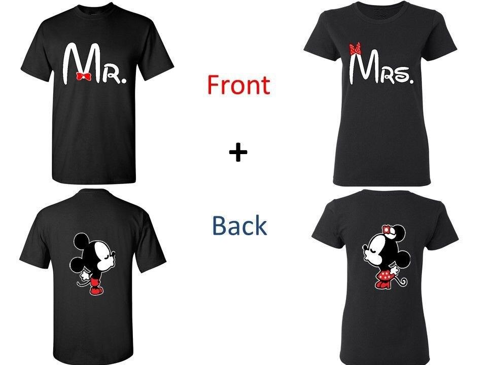 Wifey hubby personalised t shirt set custom wedding date