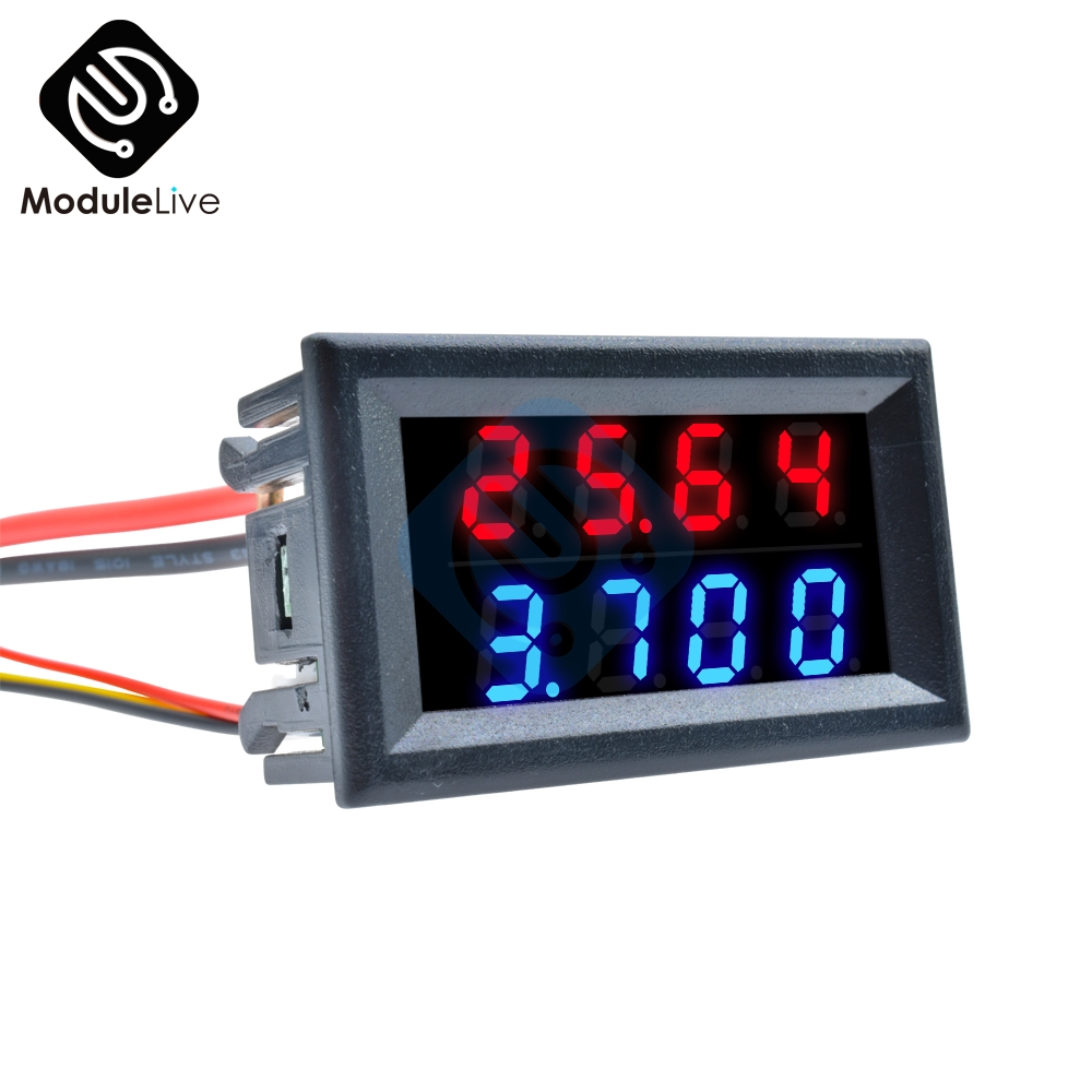 DC 0-10A//0-50A//0-100A 0.56 4bit LED Panel Meter Digital Ammeter Red