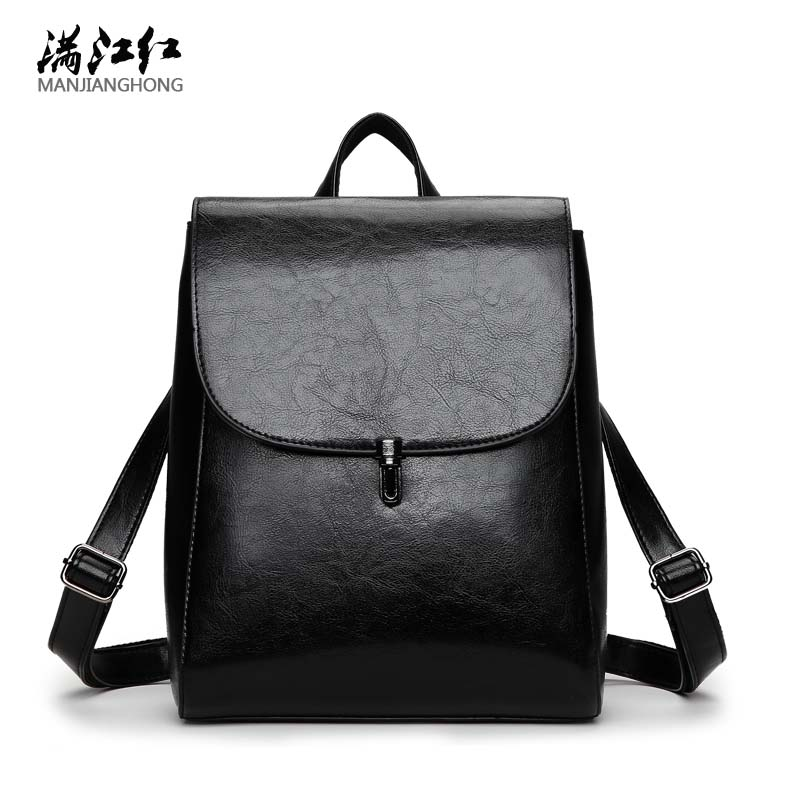 2017 Design PU Leather Backpack Women Backpacks For Teenage Girls School Bags Black Autumn Brand Vintage