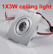 3W White/Warm White Ceiling Led Down Lights 3w Recessed Spot Llight AC85V~265V For Cabinet Showcase