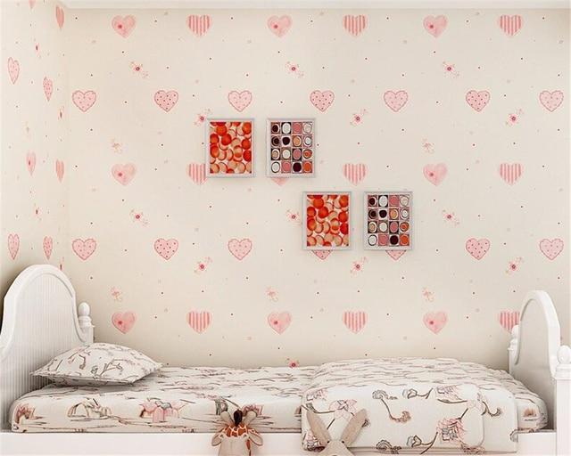 Behang Kinderkamer Roze : Beibehang 3d room wallpaper landschap behang kinderkamer prinses