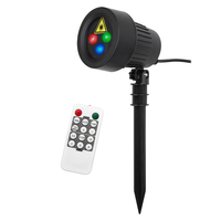 Stars Red Green Blue Showers lights Christmas Laser Projector Outdoor Waterproof IP65 Garden Decoration Static with RF remote|Stage Lighting Effect| |  -