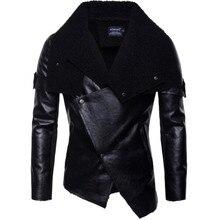 цены на New Motorcycle Jacket Men PU Leather Retro Punk Leather Coat Faux Jacket Moto Jacket Motorcycle Size S-2XL  в интернет-магазинах