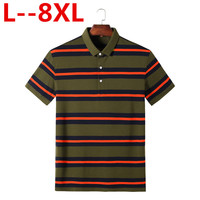 Plus size 8XL 6XL 5XL 4XL Brand New Mens Stripe T Shirt Men Plain Color Casual Short Sleeved T Shirt For Male Tshirt Big large