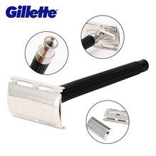 ג 'ילט סופר כחול תער גילוח גברים סכין 1 מחזיק עם 1 להב הרשמי אותנטי בטיחות סכיני גילוח לגברים גילוח