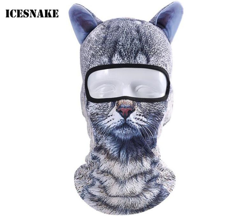 f824561f50981 ICESNAKE Motorcycle 3D Animal Ear Balaclava Full Face Mask Bicycle Hats  Snowboard Winter Warmer Cat Dog